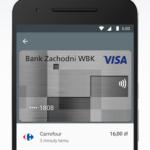Zrzut ekranu 3 - Screen przedstawia widok aplikacji Android Pay na ekranie smartfona.